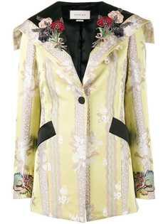 куртка с цветочной аппликацией Gucci