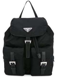 рюкзак с пряжками Prada