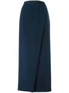 длинная юбка с запахом Chanel Vintage