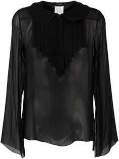 прозрачная рубашка с рюшами Chanel Vintage