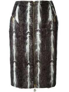 юбка из искусственного меха Christian Dior Vintage