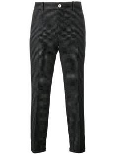 укороченные брюки в горох Gucci