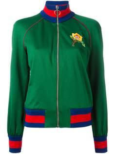 куртка бомбер с цветочной вышивкой Gucci