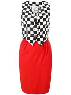 платье с верхом-жилеткой Moschino Vintage