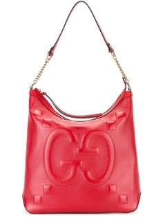 сумка на плечо с тисненым логотипом Gucci