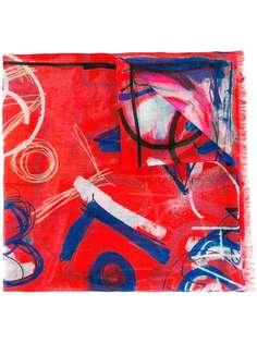 шарф с рисунком-иллюстрацией Chanel Vintage