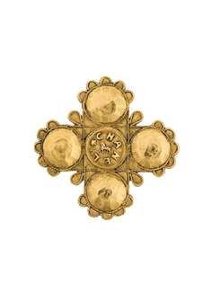 коллекционная брошь-крест со львом Chanel Vintage