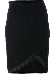 асимметричная юбка с запахом Yves Saint Laurent Vintage