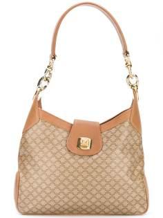 сумка-хобо с монограммным принтом Céline Vintage