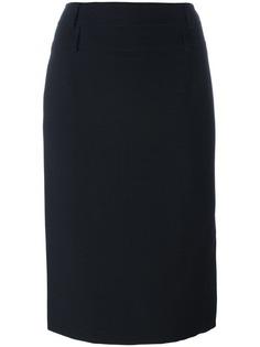 юбка с застежкой сбоку Christian Dior Vintage