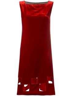 бархатное платье с вырезными деталями Jean Paul Gaultier Vintage