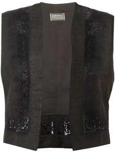 жилетка с цветочной вышивкой Versace Vintage