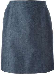 классическая юбка прямого кроя Chanel Vintage