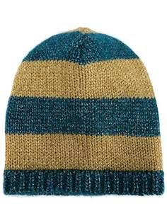 полосатая вязаная шапка-бини Gucci