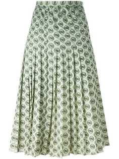юбка с принтом Christian Dior Vintage