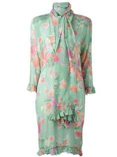 платье с цветочным принтом Christian Dior Vintage