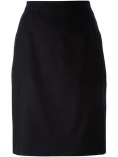 полосатая юбка-карандаш Yves Saint Laurent Vintage