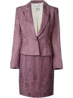 жаккардовый юбочный костюм Christian Dior Vintage