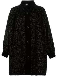 пальто с цветочной вышивкой Yves Saint Laurent Vintage