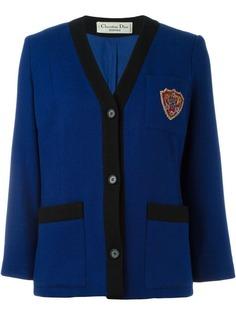 пиджак с нагрудной заплаткой Christian Dior Vintage