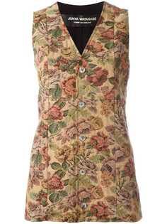 жилетка с цветочным принтом Junya Watanabe Comme Des Garçons Vintage