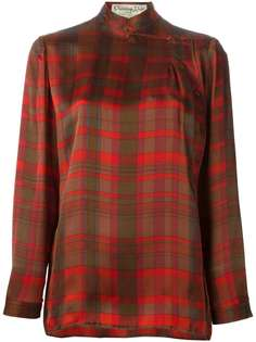 блузка в клетку Christian Dior Vintage