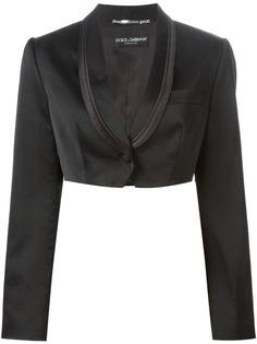 укороченный пиджак-смокинг Dolce & Gabbana Vintage