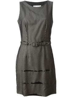 платье с поясом в клетку Moschino Vintage
