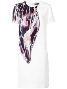 платье-футболка с принтом в виде шарфа Salvatore Ferragamo