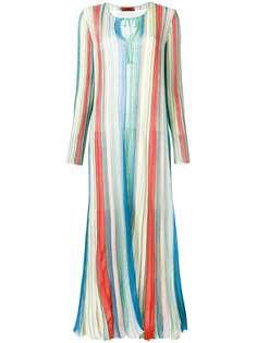 плиссированное платье-макси Missoni