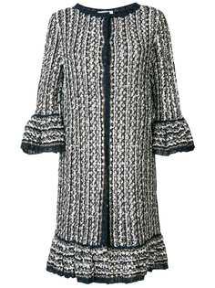 длинное вязаное пальто Charlott