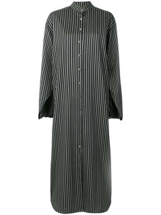 полосатое платье свободного кроя с длинными рукавами Rouge Margaux
