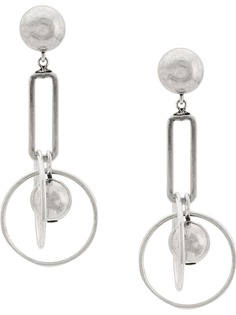 серьга-кольцо с подвесками Dannijo