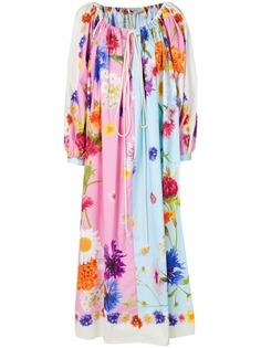 платье свободного кроя с цветочным принтом Natasha Zinko