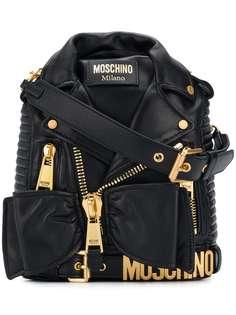 рюкзак с золотистой фурнитурой Moschino