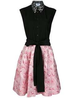 платье с контрастным дизайном Prada