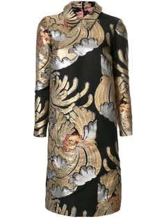 платье-шифт с вышивкой с металлическим отблеском Rochas