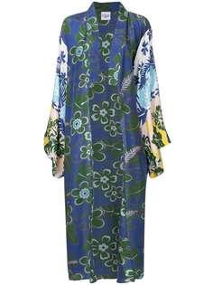 пальто-кимоно кроя оверсайз с цветочным рисунком Michel Klein