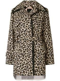 леопардовая куртка с поясом Nº21
