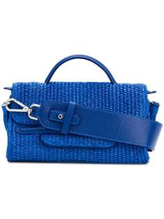 плетеная сумка с откидным клапаном Zanellato