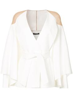 куртка с прозрачными плечами Balmain