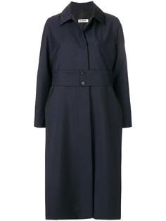 пальто свободного кроя с ремнем Jil Sander