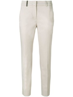 облегающие брюки прямого кроя Peserico