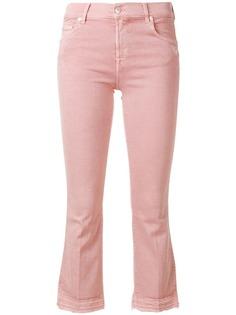 расклешенные укороченные джинсы 7 For All Mankind