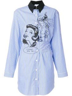 платье-рубашка в полоску Prada