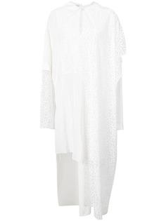 платье-рубашка с кружевными вставками Loewe