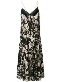 платье миди в складку с цветочными мотивами Nº21