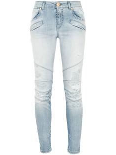 облегающие джинсы с потертостями Pierre Balmain