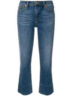 расклешенные укороченные джинсы Tory Burch
