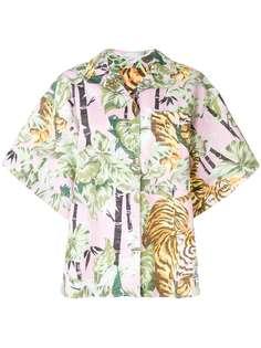 рубашка с короткими широкими рукавами Kenzo
